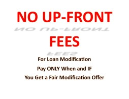 No Fees Upfront Large